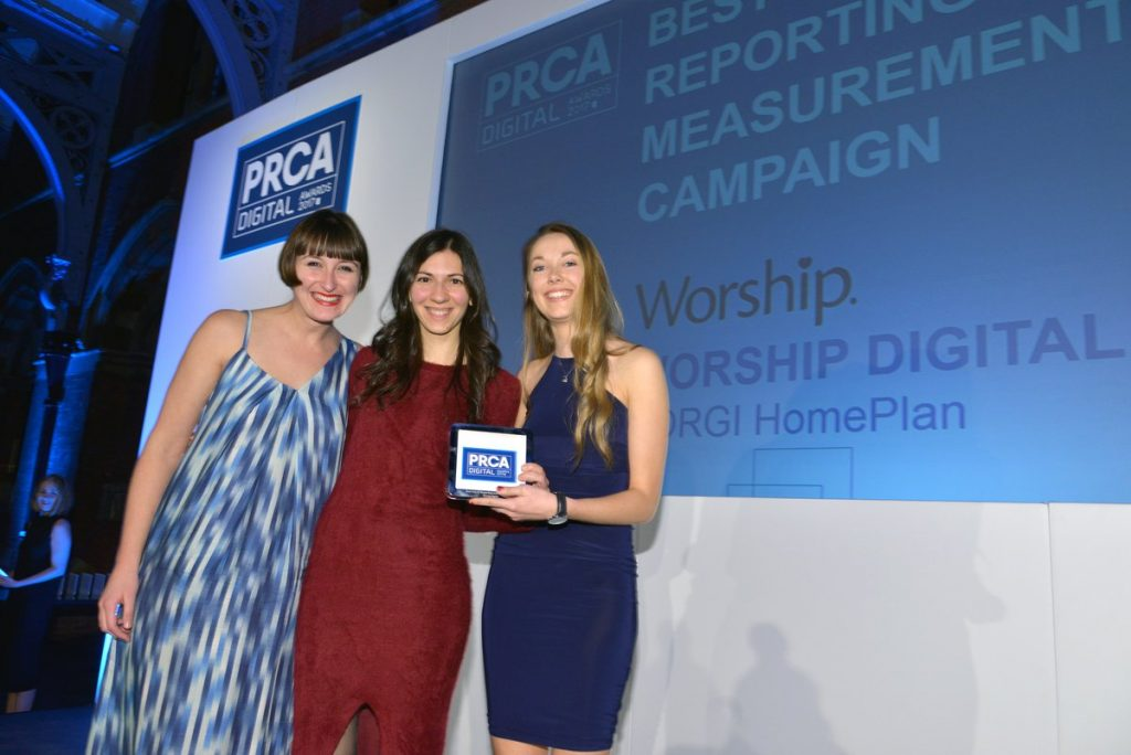 We won Best Use of Reporting and Measurement at the PRCA Digital Awards on Tuesday.